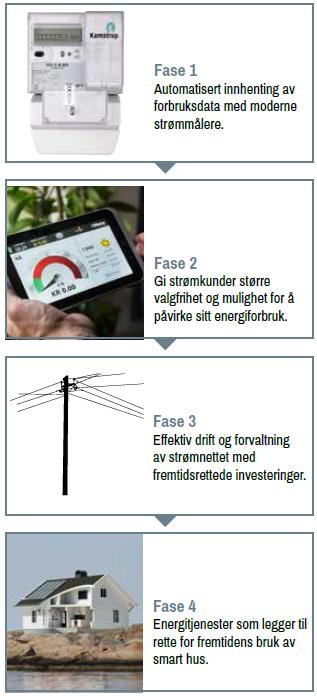 Illustrasjon av forskningsprosjektets fire faser