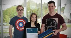 Foto av vinnerne av årets studentprosjekt